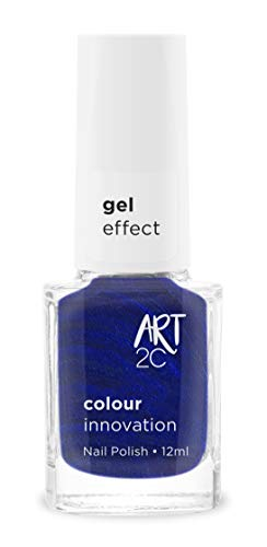 Art 2C - Esmalte de uñas efecto gel, 18 colores, 12 ml, color: Night sky (GE11)