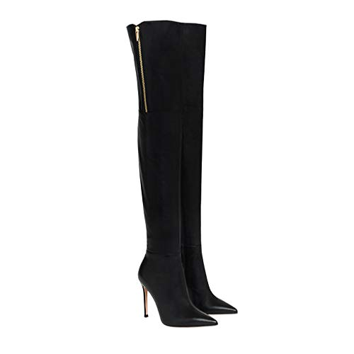 EDTEPF Women's Over Knee Boots Pointy Toe Stiletto Boots Fashion Dress Party Walking Shoes,38