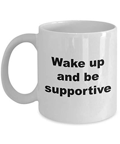 Taza de café (blanca) Regalos de 11 onzas Cónyuge Inspire Mujeres Hombres Esposa Marido Niña Novio Novedad Despierte y sea solidario