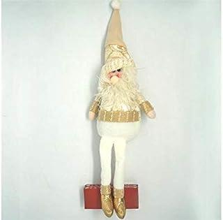 Pengcher Christmas Santa Doll Pendant Decoration Party Ornament(Santa) (Color : Golden, Size : 57x11.5cm)