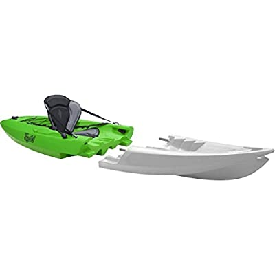 015301240108 Point 65 Tequila! GTX Modular Kayak Back Section - Lime from Point 65