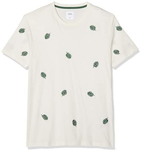 Burton Menswear London Heren Korte Sleave All Over Leaf Borduurwerk T-shirt