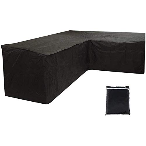 L-shaped Garden Furniture Cover, Garden Furniture Cover, Corner Sofa Cover, Heavy-duty Oxford Cloth Sofa Cover Waterproof and Windproof and UV Resistant, Sofa Protective Cover. (200 x 270 x 90 cm)