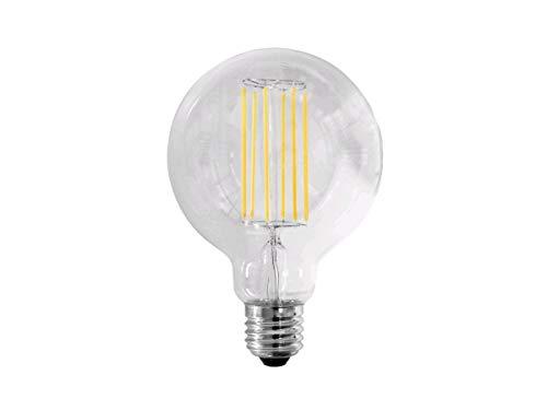 Lampadina Globo Edison Stile Vintage a Filamento LED 10W = 94W - 1400 lumen - Dimensioni: d 125 x 175 mm Angolo Flusso luminoso 360° (Bianco Caldo 2700K)