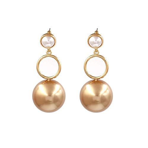 TIANYOU Novedad Joyas-Pendientes para mujer Pendientes Pendientes Pendientes de gota Oreja, Pendientes de perlas de moda Pendientes simples europeos y americanos Oro, aptos para el