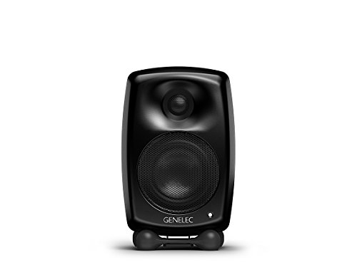 Genelec G Two Aktiv Lautsprecher Active Monitor Speakers, Schwarz (Paar)