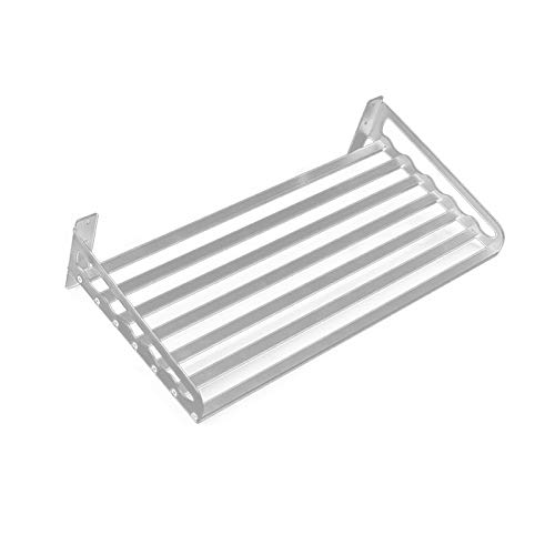 XDT 60x40cm Aluminio del Espacio del Horno Microondas Soporte De Repisa Montado En La Pared De La Cocina Rack 1 Nivel Estante De La Cocina del Horno Microondas Estante (Color : Silver 50x40CM)