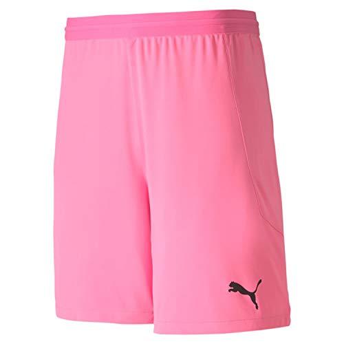 PUMA Herren teamFINAL 21 knit Shorts, Pink Glimmer, XL