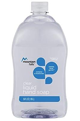 Mountain Falls Liquid Hand Soap Refill Bottle, Clear, 56 Fluid Ounce