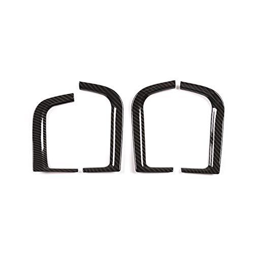 HYZZ Modanature Interne per B&MW X5 2019 ABS in Fibra di Carbonio Cromato Porta Auto Scatola di Immagazzinaggio Cornice Decorativa Trim Accessori 4 Pz (Colore : Fibra di Carbonio)