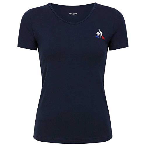 Le Coq Sportif Tennis Match tee SS N°1 W Camiseta, Mujer, Dress Blues, S