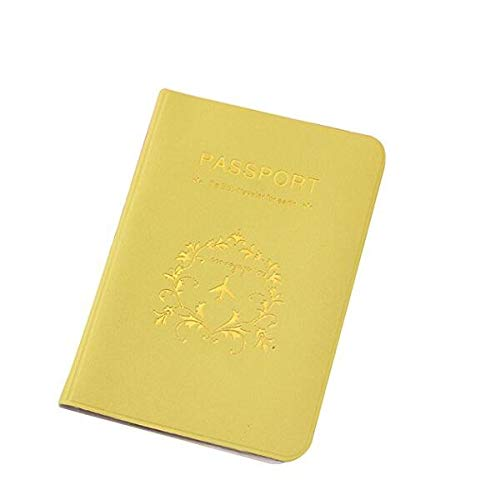 QWhing Paspoort ID Credit Card Kaart-gekleurde Multi-functie Beschermhoes (geel)