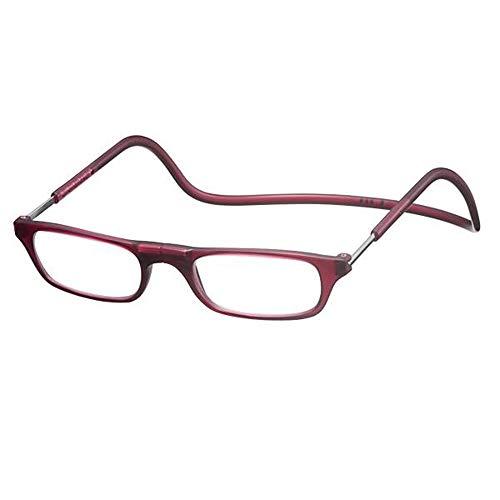 老眼鏡 CliC readers(クリック リーダー) マットボルドー +3.00