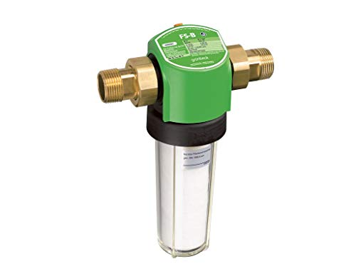 Grünbeck Geno fijnfilter 1 1/2, waterfilter voor drinkwaterinstallaties, zonder drukregelaar, 101 180, meerkleurig