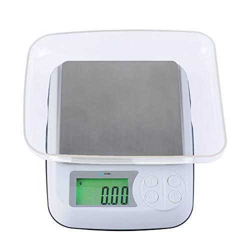 ZCXBHD Portátil Digital Escala De Joyas Mini Balanza Electrónica Balance Preciso 0.1G Balanza De Cocina Bolsillo Comida Baking Scale para Té, Cocinando, Dieta Balanza (Color : 3kg/0.1g)