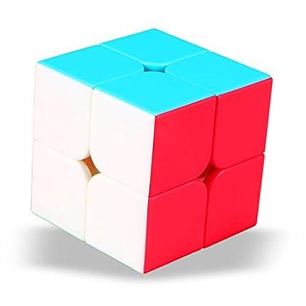 TOYESS Speed Cube 2x2 Stickerless, Cubo Mágico 2x2x2 Cubo de Velocidad, Rompecabezas Niños & Adulto