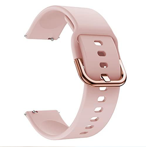 Fawyhr Correas de Silicona Reloj, Correa de Pulsera de reemplazo clásico de Silicona Suave Ajustable de Silicona. (Color : Pink, Size : 22mm)