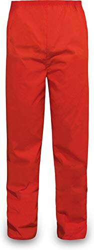 normani Outdoor Sports Regenhose für Damen und Herren wasserdicht 5000 mm für Wandern, Gassi gehen, Angeln oder Fahrad Fahren Farbe Rot Größe XL