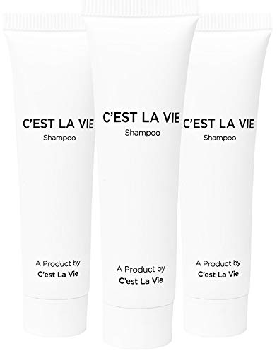 50 Bulk Pack - Fig & Olive Luxury Shampoo By C'EST LA VIE - 22ml / 0.75 fl oz - Travel Guest & Hotel Amenities - Individual Clean White Tubes in Eco Responsible Packaging. Paraben & Cruelty Free