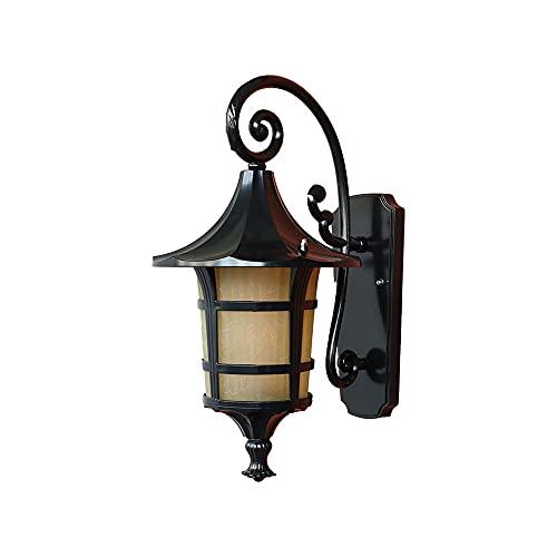 Applique da esterno vintage, apparecchio di illuminazione per applique da parete impermeabile retrò IP54, lanterne da parete rustiche Luci da veranda per montaggio a parete europee per esterno casa Pa