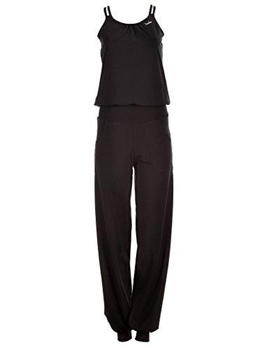 Winshape Damen Jumpsuit WJS1, Fitness Freizeit Sport Yoga Pilates, schwarz, L