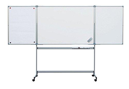 Mobiel uitklapbaar whiteboard, tafelgrootte gesloten 150x100cm