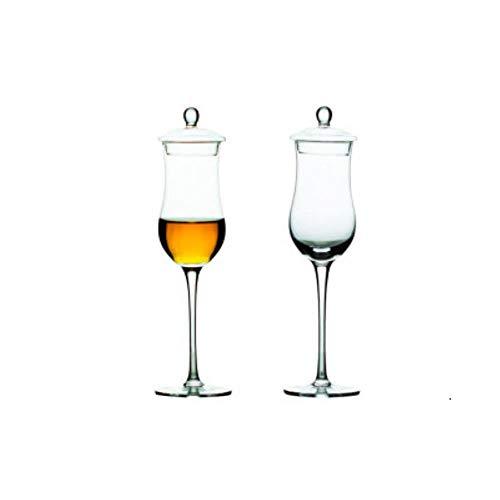 Scotch Whisky Nosing Glas Mit Deckel Whisky Cognac Brandy Snifter Xo Chivas Tulpenbecher Für Sommelier Winetaster Cup, 2 Stück Mit Deckel, 170Ml