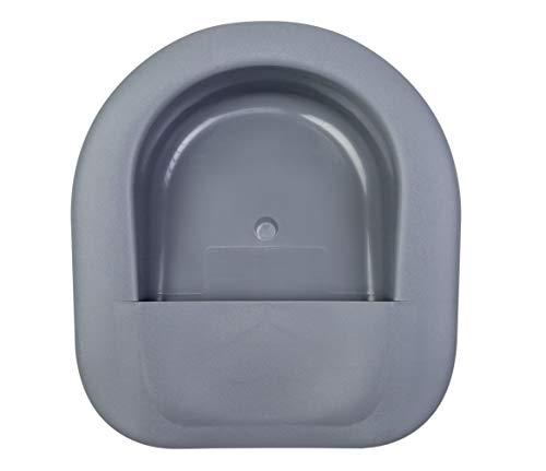 PrimeMed Extra Wide Bariatric Bedpan - Non-Stick Graphite Urinal with Splash Guard