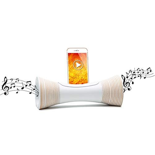 Mangobeat - Altavoz ecológico con Base de Madera, Altavoz Bluetooth Natural, Idea Regalo para Hombre y Mujer (25CM X 10CM)
