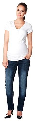 Noppies Damen Umstandsjeans Straight Jeanshose MENA Jeans 60040 / Set Gratis Baby-Tuch Farbe: Dark Stone Wash (C296) Größe: 38