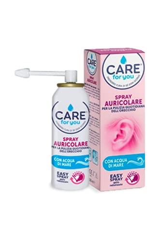 Care For You Spray Auricolare Nebulizzato per La Pulizia Quotidiana dell'Orecchio, con Acqua di Mare...