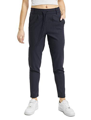 ONLY ONLY Damen Onlpoptrash Classic Pinstripe Pant Noos Hose, Night Sky, M EU