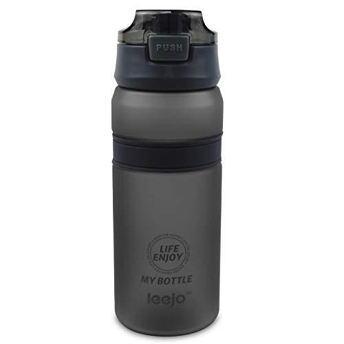 CX&LL Trinkflasche 700ml, Auslaufsicher Sport Wasserflasche - [Trinkflasche BPA Frei] Trinkflasche Geeignet für Die Fahrrad, Outdoor, Schule, Gym (Grau)