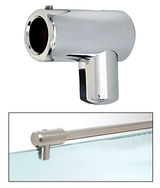 "CRL Chrome Support Bar U-Bracket for 3/8"" and 1/2"" Glass"