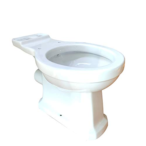 Upflush Toilet Bowls, Elongated Toilet Bowl Seat only (1.28 GPF) For Macerator Toilet Systems White