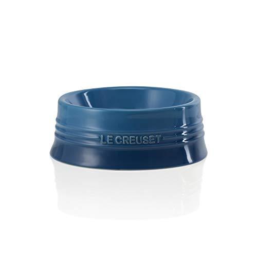 Le Creuset, Comedero de Mascotas, Tamaño L, 22,8 x 8,4 cm, 850 ml, Apto para lavavajillas, Azul (Marseille)