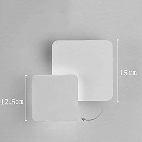 CCHAYE Wandleuchte Schlafzimmer Leselampe Led Kopfteil Mode-Ideen können die Richtung der Wohnzimmer Licht Treppen einstellbar runde Halle -E 15. * 5,5 cm anpassen Improve