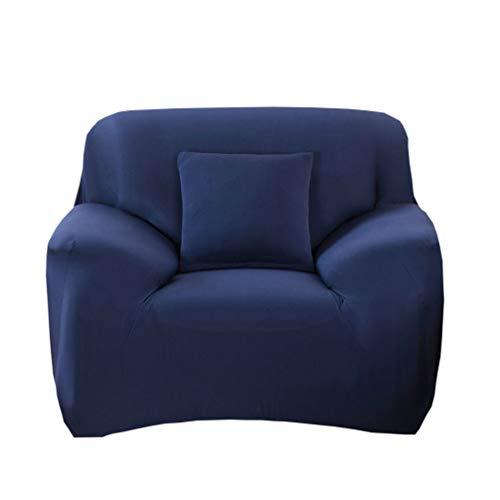 VORCOOL Funda de sillón Individual Funda de sofá 1 Plaza Funda de Sillón Relax, Fundas de Sofás Elástica Universal, cálida y Suave, 140 x 90 cm Azul Marino