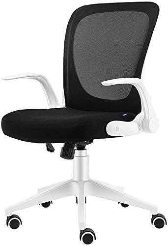 Silla de oficina THBEIBEI silla giratoria para juegos, silla de ordenador, respaldo plegable, pasamanos giratorios para ahorrar espacio, peso 200 kg, 3 colores (color: blanco)
