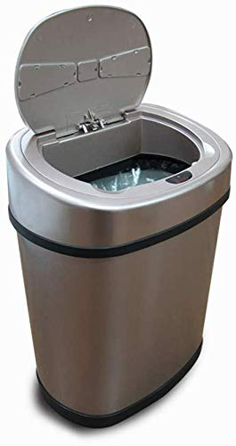 BYCDD Bote de Basura Inteligente, Sin Contacto automático Trash Can Sensor Inicio...