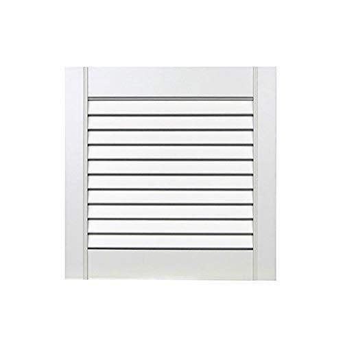 1-er Pack/Ein Stück Lamellentüren weiß seidenmatt mit offenen Lamellen Kiefernholz 395 x 394 x 21 mm für Regale, Schränke, Möbel - EINBAUFERTIG grundiert & lackiert
