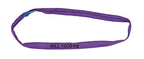 Petex 47201224 Rundschlinge WLL 1.000 kg, Länge 2 m, Umfang 4 m, Violett