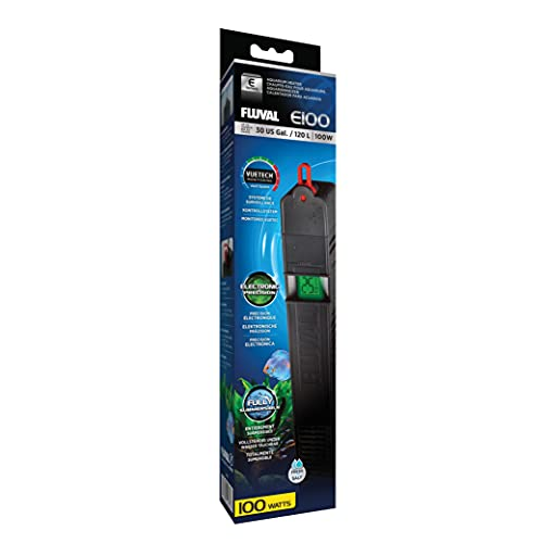 Fluval E100 Advanced Electronic Heater, 100-Watt Heater for Aquariums up to 30 Gal., A772
