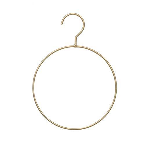 zhaoyangeng Hoogwaardige ronde zwarte gouden metalen beugels bikini kledinghanger eenvoudige riem ring kleerhanger sjaal kledinghanger voor slaapkamer kast 2 stuks @ zwart