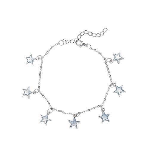 EZEELIFE Fashion Anklets for Women-with Little Star Heart Flower Glow in The Dark,Ideal Anklet&Bracelet for Leg&Fott On Summer Beach