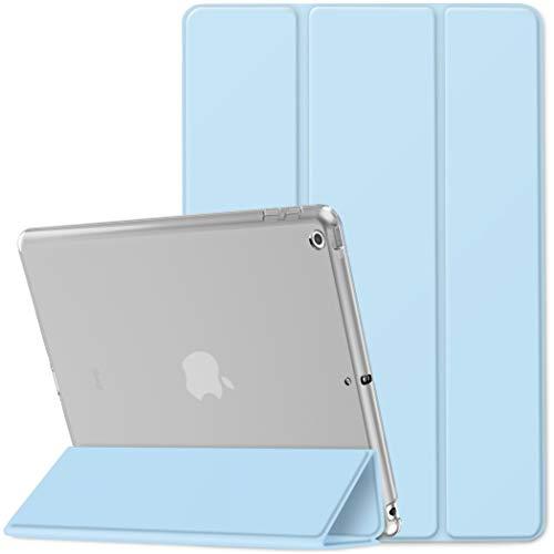 EasyAcc Custodia Cover Compatibile con iPad 8 Generazione iPad 10.2 2020 2019   iPad 7 Generazione, Cover Posteriore Opaca Ultra Sottile Traslucida con Funzione Auto Wake Up Sleep,Cielo