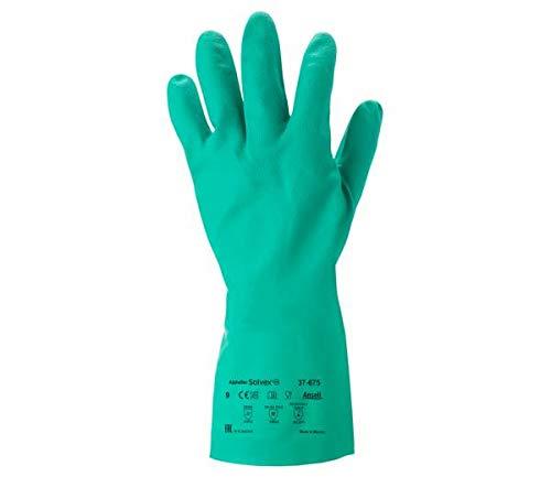 Procesado de alimentos bolsa de 12 pares Ansell VersaTouch 37-510//10 Nitrilo guante Azul Tama/ño 10