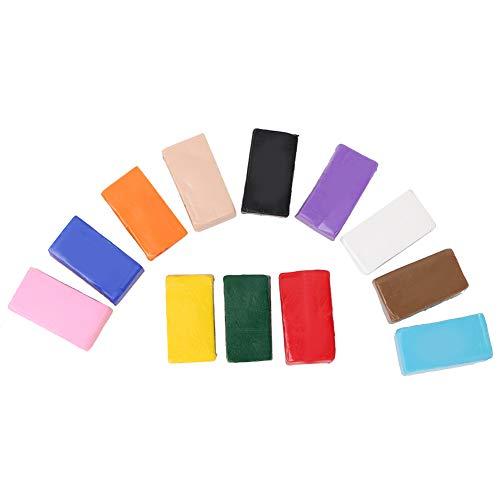 12 colores Arcilla polimérica, DIY Creativo Kit de arcilla seca polimérica con Forma fácil de secar para Entretenimiento infantil y desarrollo intelectual o desarrollo lógico