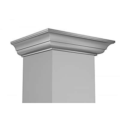 ZLINE 36 in. 400 CFM Wall Mount Range Hood in Stainless Steel with Crown Molding (KL3CRN-36)