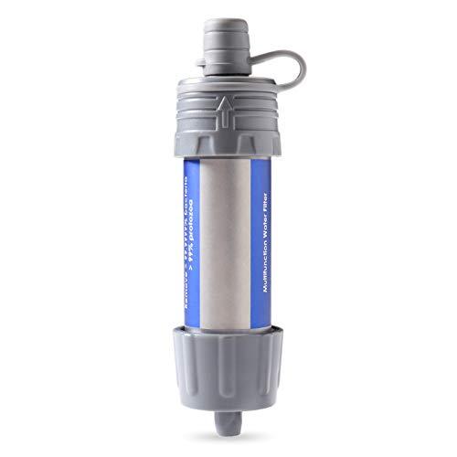 Festnight Wasserfilter Stroh, Outdoor-Wasserfilter Strohwasser-Filter-System Wasserfilter für Wandern Trekking Reisen Abenteuer und Notbereitschaft